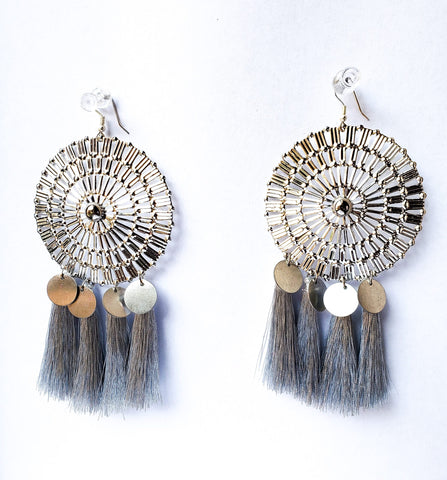 Hediye II - Statement Silver Earrings