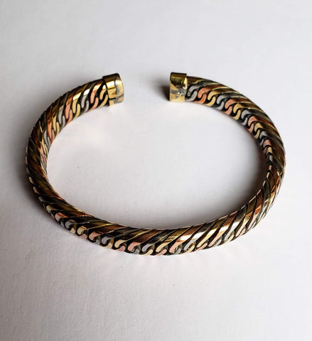 Imka - Multi-Metal Brass, Copper and Iron Bracelet