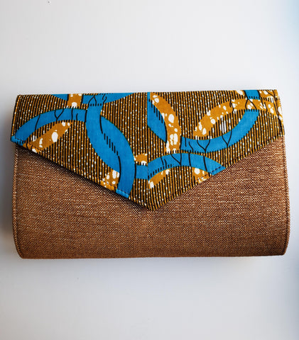 Cheneso - African Print Sued-Like Material Clutch Bag