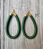 Baraka - Brass Threaded Loop Earrings (Various Colors)