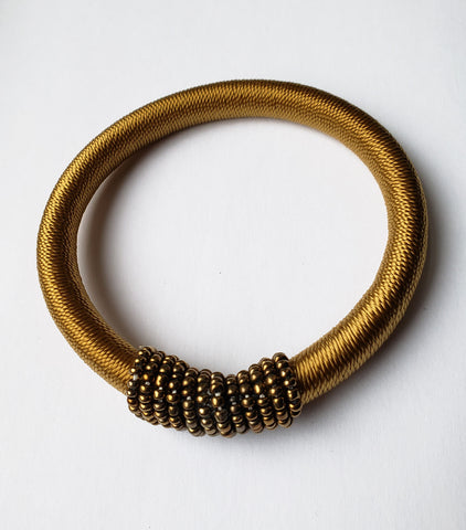 Barongo - Gold Thread and Bead Bracelet