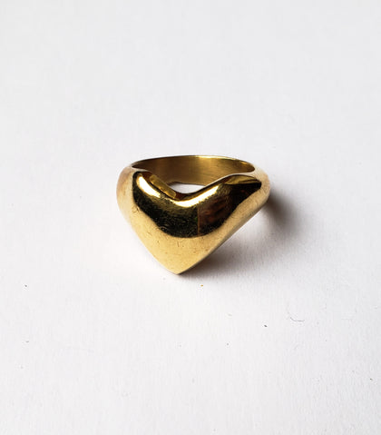 Rugare- Brass Heart Ring