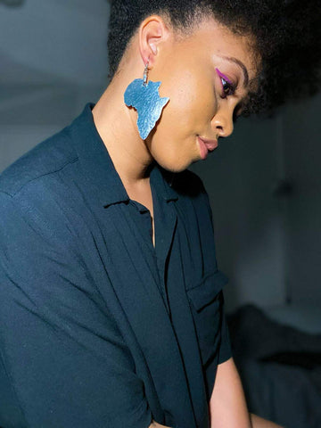 Seka- Textured Aluminum Africa Earrings