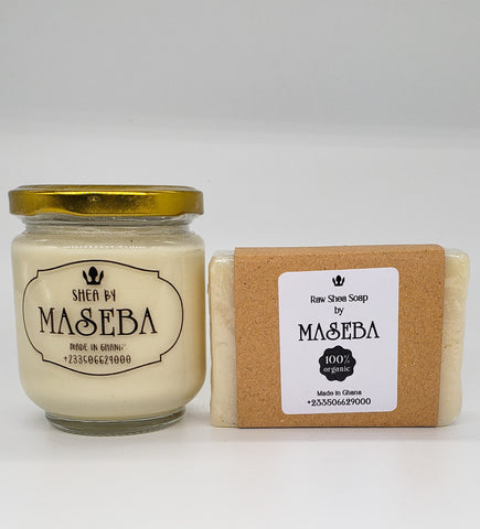 Maseba - Set of 100% Organic Ghanaian Shea Butter and Soap