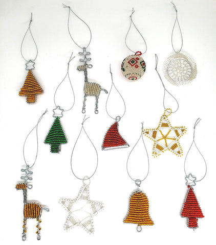 Ukhisimusi - Set of Zulu Beaded Holiday Ornaments