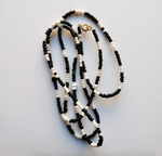 Binti - Black and White Waist Beads