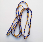 Jina - Gold and Blue Waist Beads
