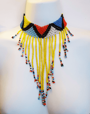 Ohon - Yellow Beaded Choker