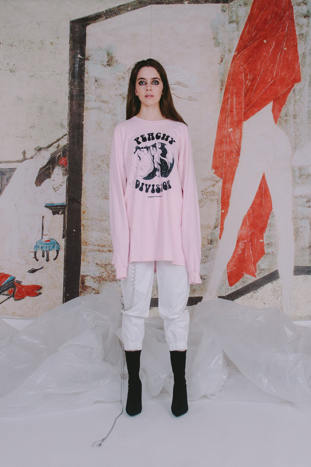 Peachy Division Long Sleeves Tee