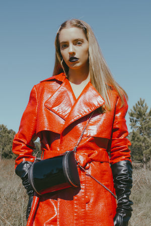 Vinyl Chained Crossbody Bag