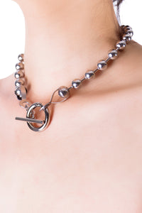 Ball Chain Closure Choker Necklace