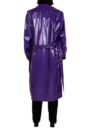 Royal Patent Vinyl Trench Coat