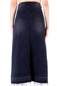 Split Denim Skirt