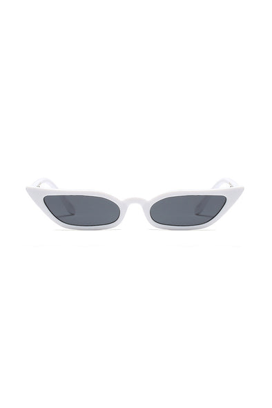 Slim Starstruck Sunglasses | White