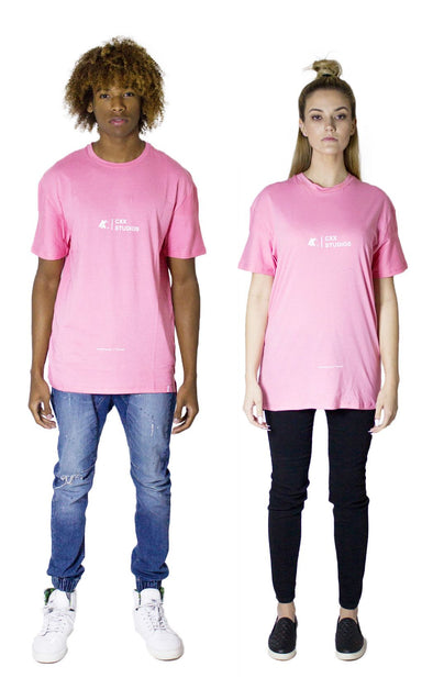 The CXX Pale Pink Wave Tee - BKBT Concept