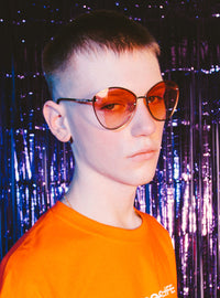 Bijou Teardrop Sunglasses | Orange