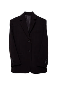 Essential Wide Shoulder Padded Blazer