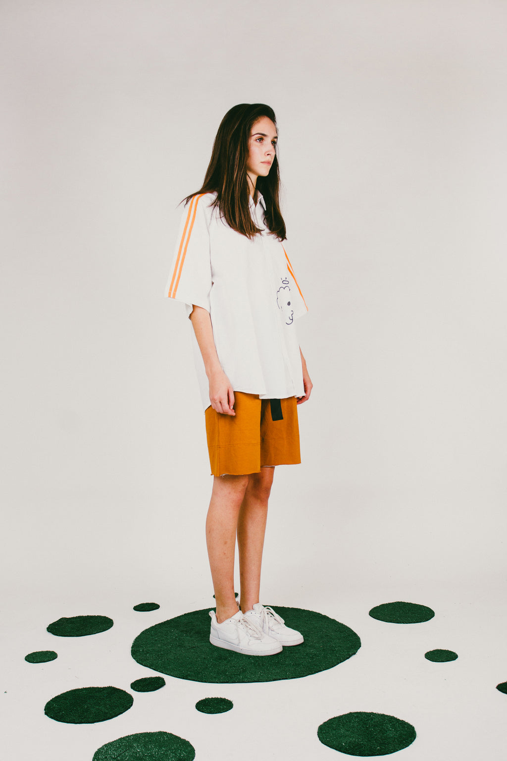 Lova Oversized Short Sleeve Button-Down Shirt