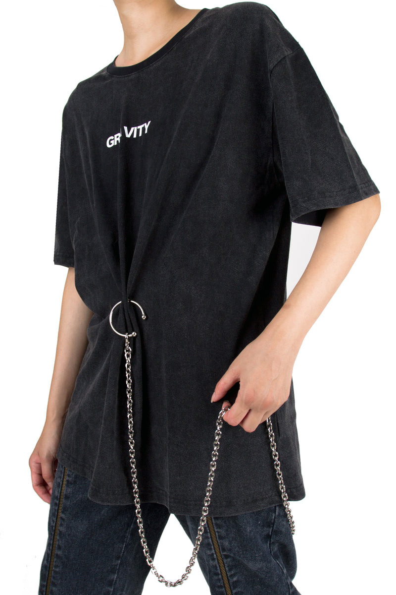 Gravity O-ring Chained Washed Tee