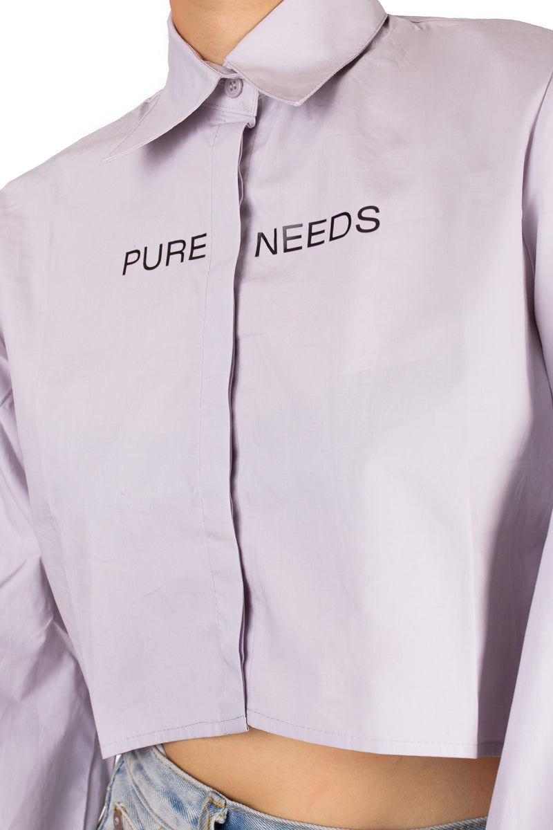 Pure Needs Cropped Shirt