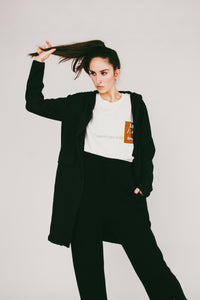 Lova Hooded Cardigan Jacket | Black