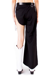 Asymmetrical Wide Legged Trouser
