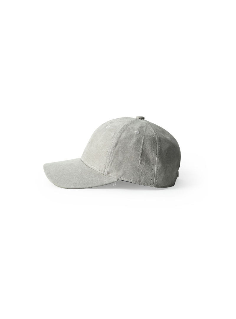 Essential Suede Baseball Cap | Grey