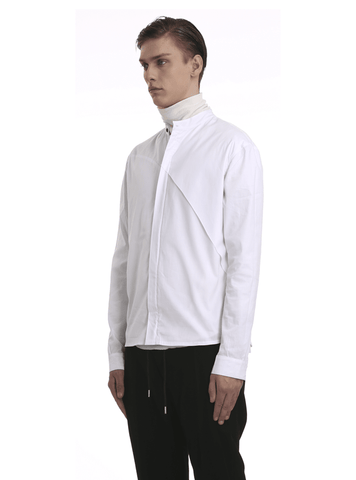 Zipped Cotton Poplin Shirt by Enfin Levé