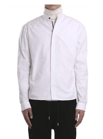 Zipped Cotton Poplin Shirt by Enfin Levé - BKBT Concept