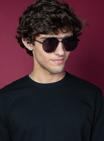 Retro 70's Sunglasses | Black