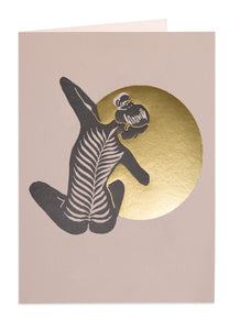 'Yoga' Letterpress Card by Archivist