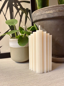Art Deco Pillar Candle