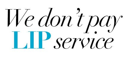 we don't pay lip service
