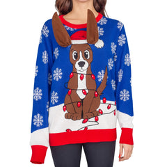 humorous christmas sweaters for dog parents