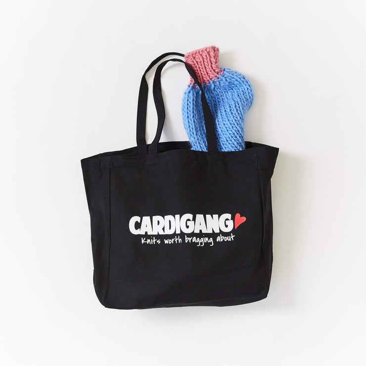 Knits worth bragging about Tote - CARDIGANG