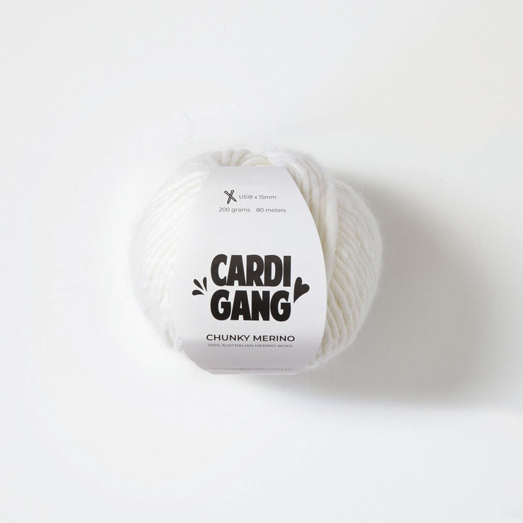 Chunky Merino | White Out - CARDIGANG