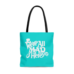 All Mad Here Tote Bag (Blue)