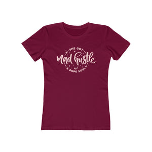 Women's Fit Mad Hustle Tee (red or black)