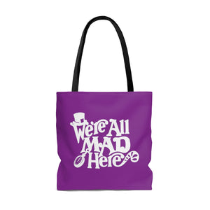 All Mad Here Tote Bag (purple)