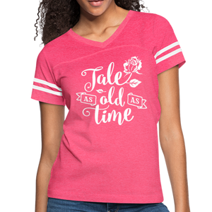 Women's-Fit TALE AS OLD AS TIME T-Shirt - vintage pink/white