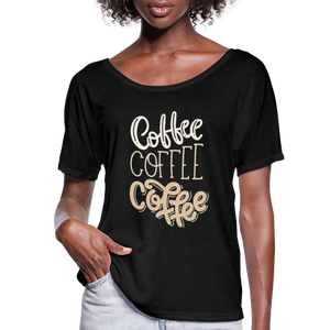 Flowy-Fit COFFEE x3 T-Shirt - black