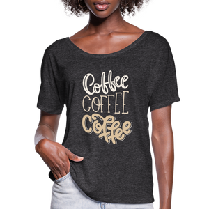 Flowy-Fit COFFEE x3 T-Shirt - charcoal gray