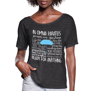 Flowy-Fit IN OMNIA Words T-Shirt - charcoal gray