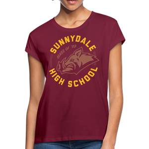 Women's Relaxed-Fit Sunnydale High T-Shirt - burgundy