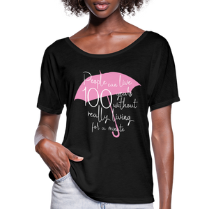 Women's Flowy-Fit 100 Years T-Shirt - black