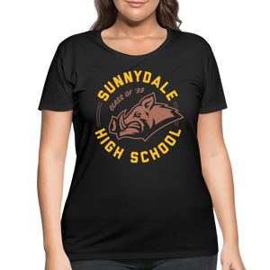 Curvy-Fit Sunnydale High T-Shirt - black