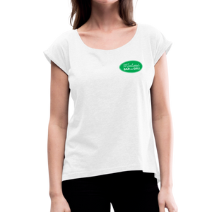 Women's Roll Cuff Merlotte's T-Shirt - white