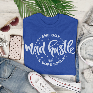 Women's Fit Mad Hustle Tee (blue)