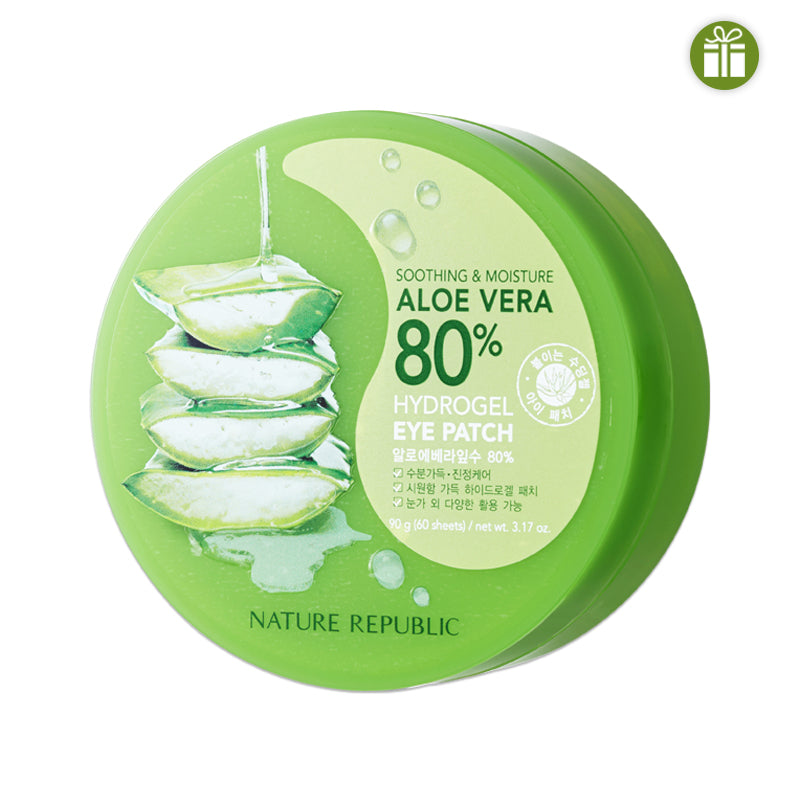 SOOTHING & MOISTURE ALOE VERA 80% HYDROGEL EYE PATCH