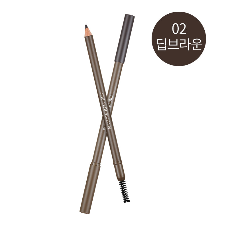 BY FLOWER WOOD EYEBROW 02 DEEP BROWN